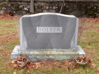 Dolben Gravestone Front in Forest Glen
