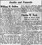 William H. Dolben obituary